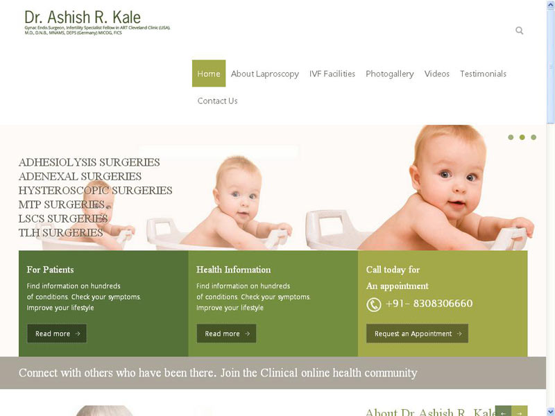 DR. ASHISH KALE : DOCTORS WEB SITE DESIGNING COMPANY IN PUNE, INDIA
