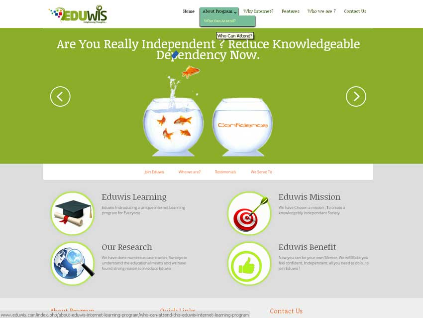 eduwis.com : Educational organisations corporatre Website Designing Company In Pune, Mumbai, India